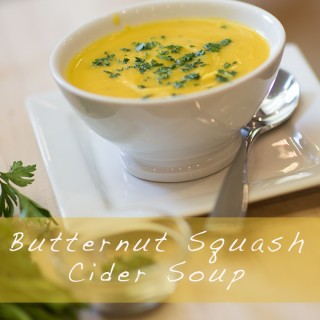 Butternut Squash Cider Soup – EASY – FAST – AMAZING!