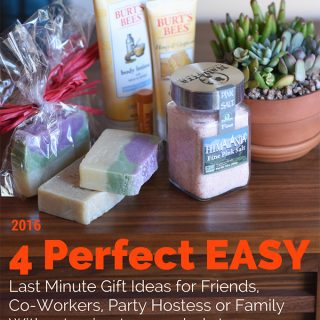 4 Perfect EASY Last Minute Holiday Gift Ideas for Friends, Co-Workers, Party Hostess or Family Without having to go to Crowded Stores