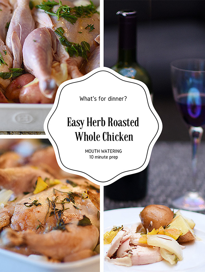 Easy Mouth Watering Orange Herb Roasted Whole Chicken ...