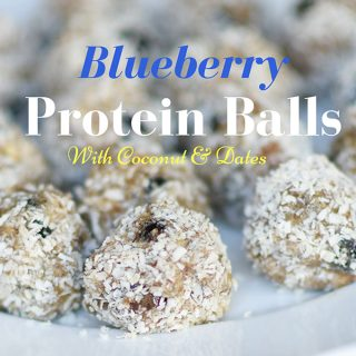 Blueberry Coconut Nutty Protein Balls